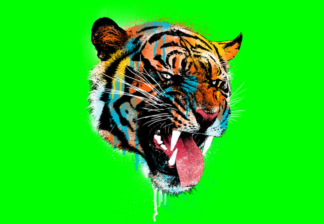 Ferocious Tiger  Artwork