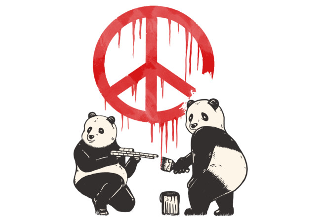 Pandalism 2 Peace Sign  Artwork