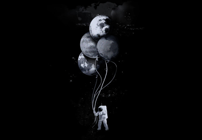 The spaceman's B&W trip  Artwork