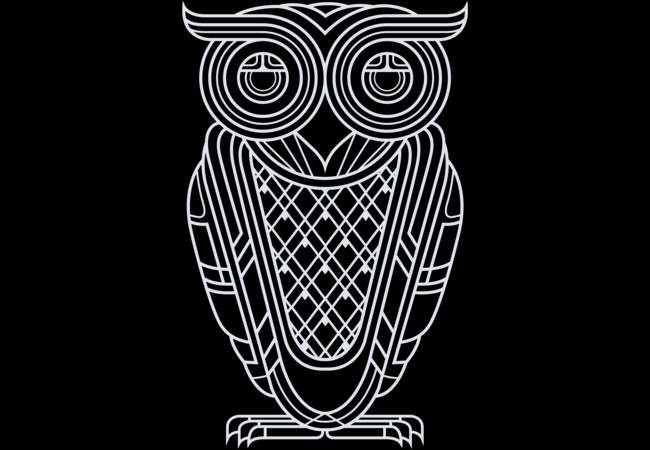 Art Deco Owl (Nocturnal)  Artwork