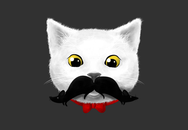 Kitty's Mouse-tache  Artwork