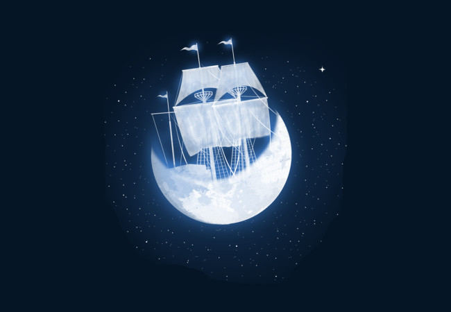 moon sailing  Artwork