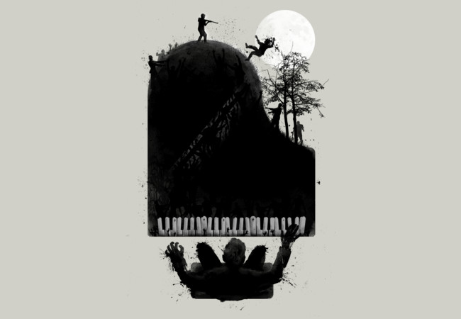 the zombie pianist ; moonlight zonataa..  Artwork