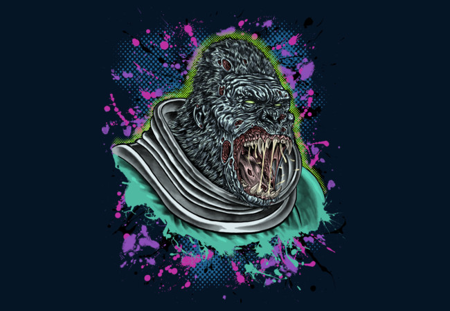 Zombie Apes From Mars!  Artwork