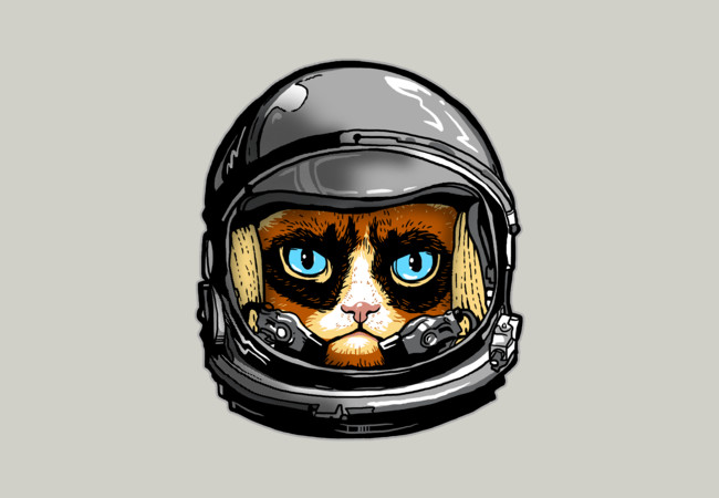 Grumpy Astronaut, Not!  Artwork