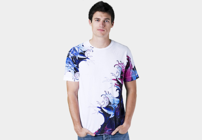 Watercolor waves T-Shirt - Design By Humans