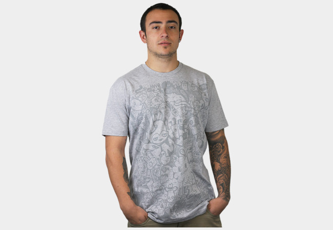 The Faded Doodle T-Shirt - Design By Humans
