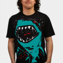 Creags wearing Shark with pixelated teeth! by gloopz