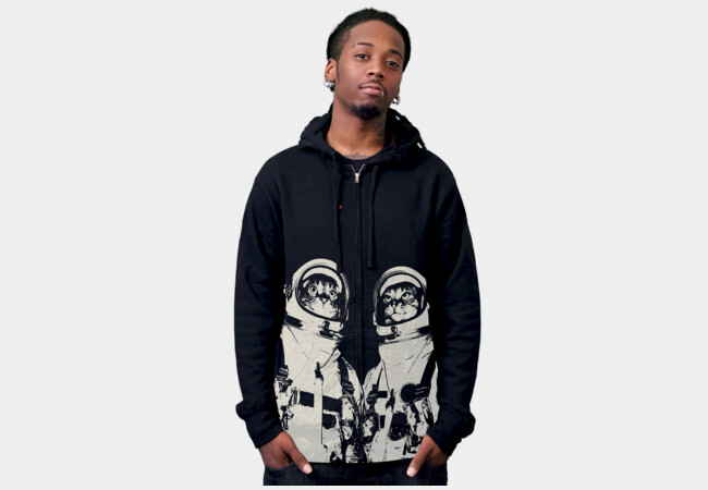 Catstronauts Hoodie T-Shirt - Design By Humans
