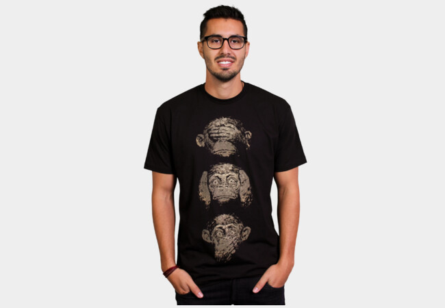 3 wise monkeys T-Shirt - Design By Humans