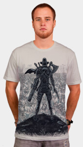 Cowboy Samurai Viking Robot Knight Ninja Pirate VS 1.000.000 Zombies T-Shirt