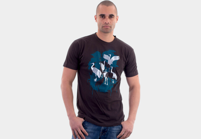 Japanese Cranes T-Shirt - Design By Humans