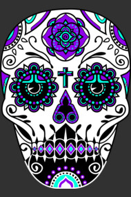 Day of the Dead Deco Skull