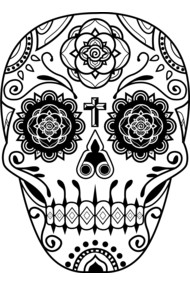 Day of the Dead Deco Skull 2