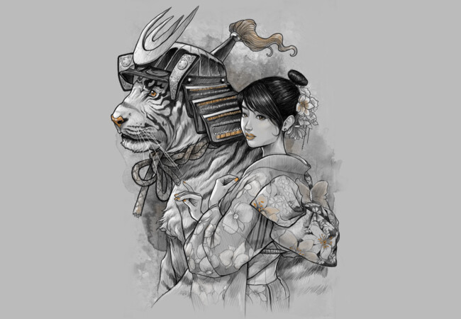 Samurai Tiger  Artwork