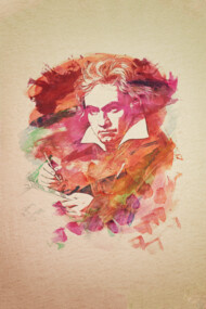 Ludwig van Beethoven Watercolor Remix