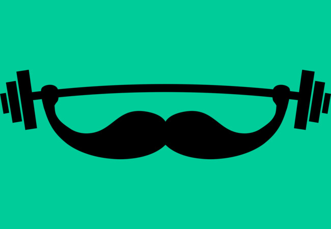 Minimal Funny Fitness Mustache / Beard  Artwork
