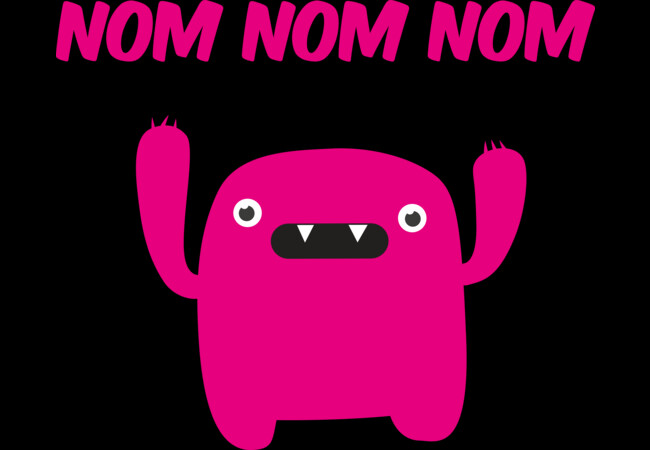 Funny & Cute Om nom nom nom - Monster  Artwork