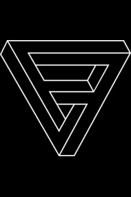 Optical illusion - Impossible Figure - Penrose Triangle