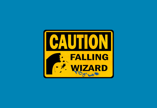 Caution: Falling Wizard  Artwork