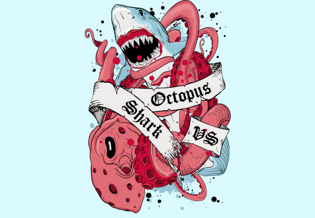 Shark vs Octopus  Artwork