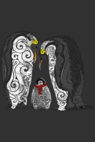 Swirly Penguin Family