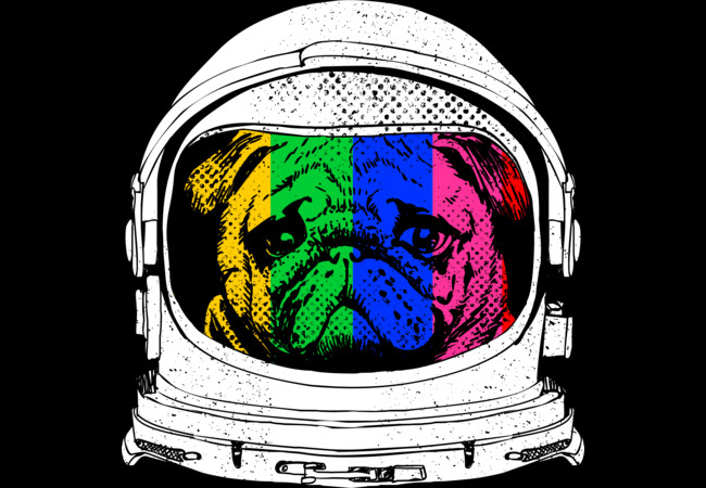 Astronaut Pug  Artwork