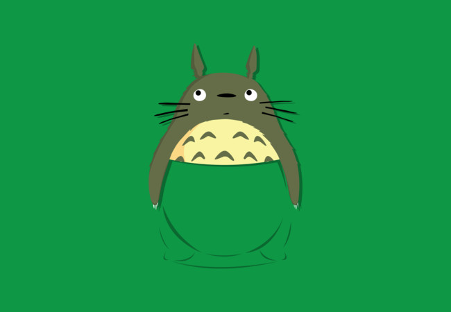 Totoro in a pocket  Artwork