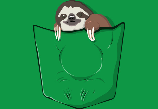 Sloth in a pocket  Artwork