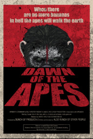 Dawn of the apes poster parody