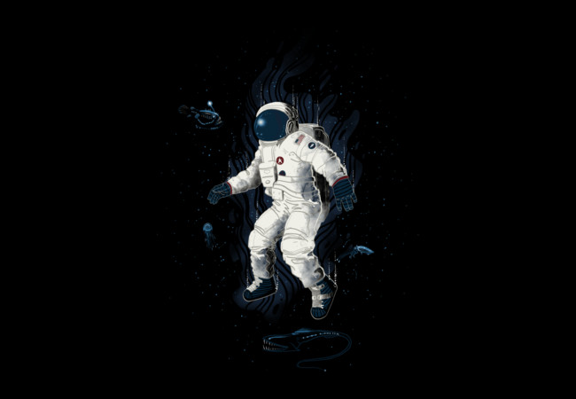 Lost in the abyss of space  Artwork