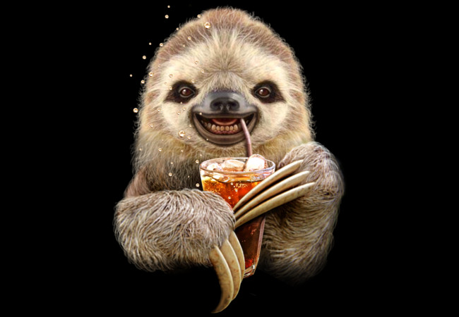 SLOTH & SOFT DRINK  Artwork