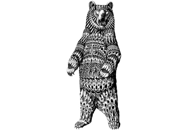 Ornate Grizzly Bear  Artwork