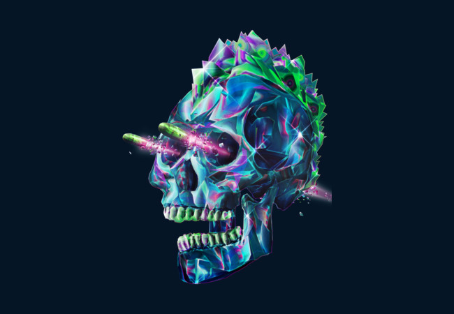 Diamond Skull II  Artwork