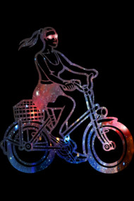 Space Girl Cycling