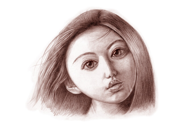 Doll Face Drawing  Artwork