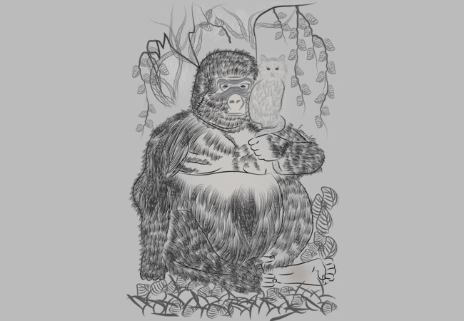 Jungle Gorilla and his Cat  Artwork