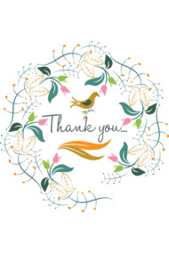 Decorative Thank you