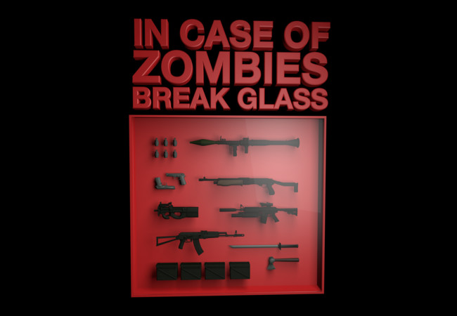 In Case of Zombies..  Artwork