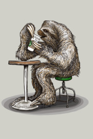 Steve the Sloth Taking a Coffee Break