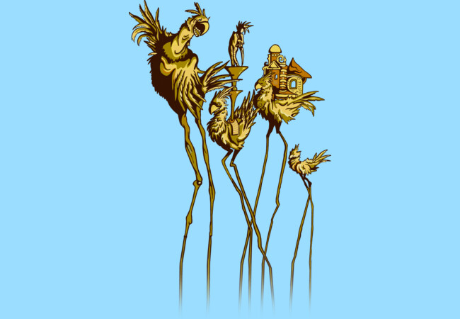 Dali Chocobos  Artwork