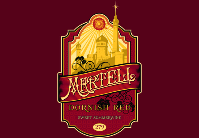Martell Dornish Red  Artwork
