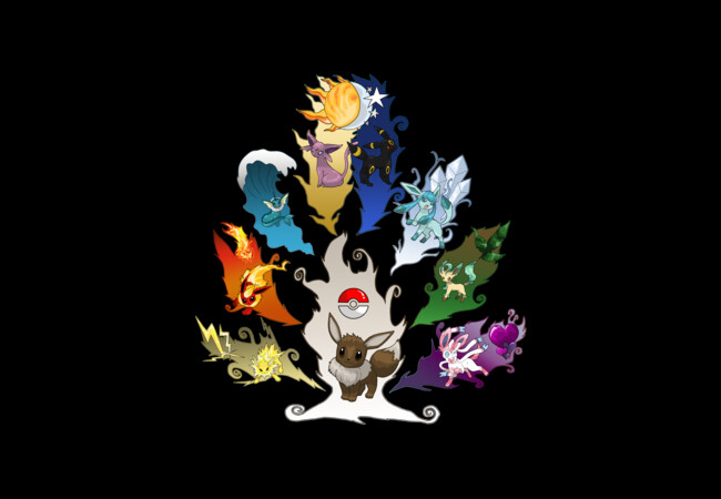 Eeveelution Tree ver. 2  Artwork