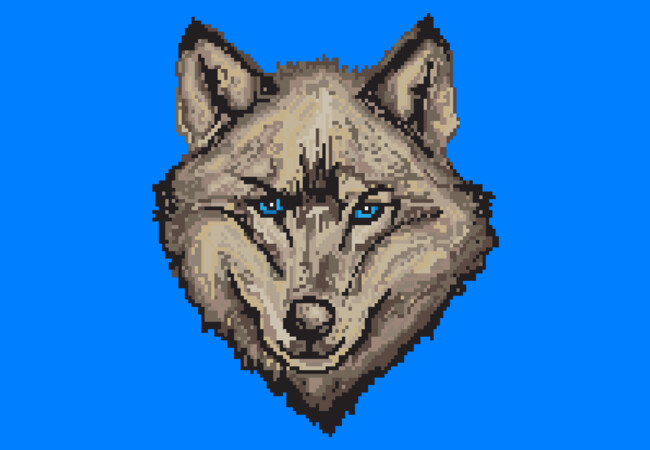 Pixel Wolf - Browns  Artwork