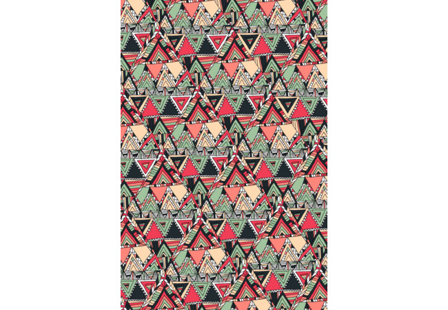 Tribal Aztec Pattern Boho Orange Triangle  Artwork