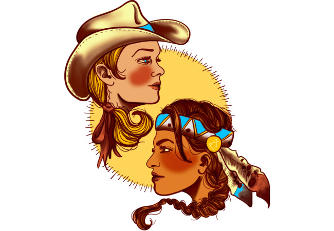 Cowgirl & Indian Princess  Artwork