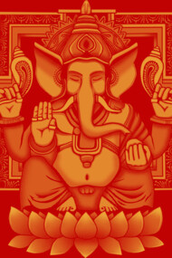 Ganesh 2 Yellow Halftone