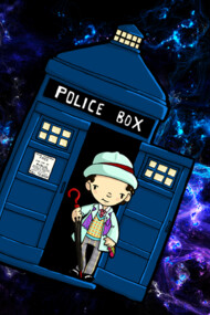 TARDIS in SPACE doctor who 7
