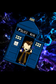 TARDIS in SPACE doctor who 10