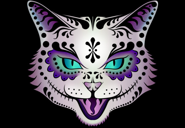 Sugar Skull Kitty  Artwork